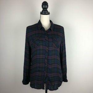 Romeo +Juliet Couture Plaid Shirt